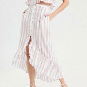 AE Striped Skirt Set